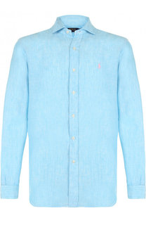 3b6aae21586d8fd Льняная рубашка с воротником кент Polo Ralph Lauren