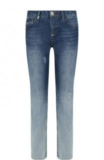 Укороченные джинсы с потертостями Philipp Plein