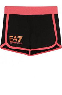 Хлопковые шорты с контрастной отделкой Ea 7