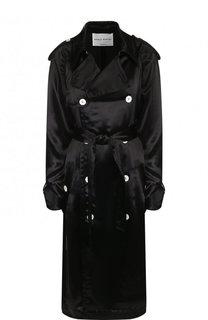 Однотонное пальто из вискозы с поясом Sonia Rykiel