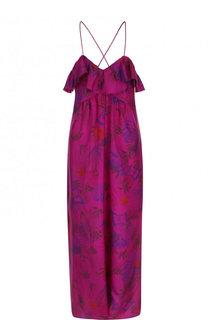 Хлопковое платье на тонких бретельках с оборками и принтом Zadig&Voltaire Zadig&Voltaire
