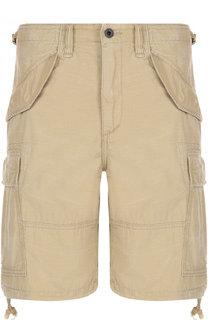 Хлопковые шорты с накладными карманами Polo Ralph Lauren