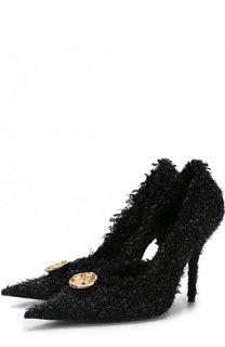 Текстильные туфли Knife Tweed на шпильке Balenciaga