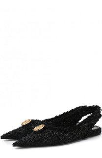 Текстильные балетки Knife Tweed Balenciaga