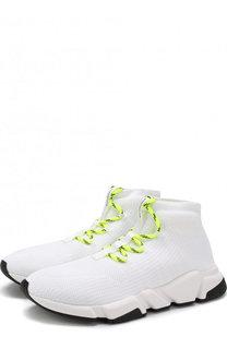 Текстильные кроссовки Speed на шнуровке Balenciaga
