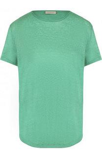 Однотонная льняная футболка с круглым вырезом By Malene Birger