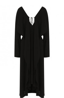 Шерстяное платье-миди на молнии Yohji Yamamoto