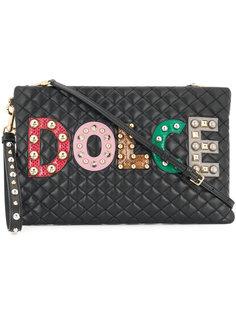 стеганый клатч с логотипом Dolce & Gabbana