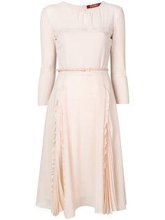 расклешенное платье с ремнем Max Mara Studio