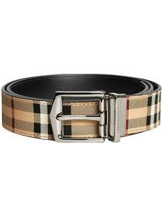 reversible Haymarket check belt Burberry