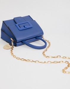 Мини-сумка через плечо с пряжкой Faith - Синий
