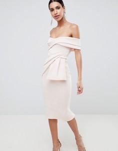 7db0789e633 Купить женские платья миди (средней длинны) с открытыми плечами в ...