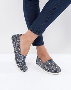 Темно-синие туфли TOMS Shibori Alpargata - Черный