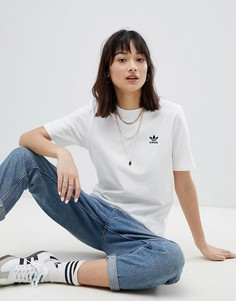 Белая рубашка с вышивкой adidas Originals - Белый