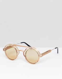 Светло-коричневые круглые солнцезащитные очки Spitfire - Коричневый