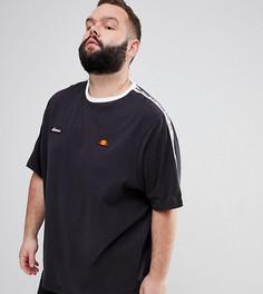 Черная oversize‑футболка с отделкой кантом ellesse PLUS - Черный