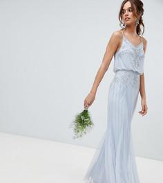 Платье макси 2 в 1 с отделкой Amelia Rose - Синий