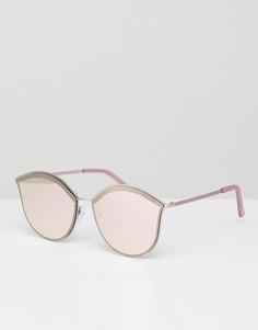 Круглые солнцезащитные очки с зеркальными стеклами Jeepers Peepers - Желтый
