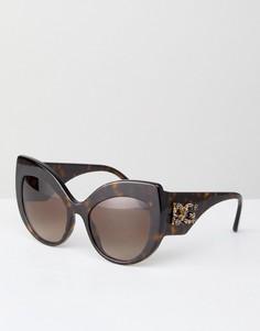 Круглые солнцезащитные очки Dolce & Gabbana - Коричневый