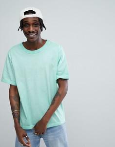 Свободная футболка мятного цвета с эффектом кислотной стирки Cheap Monday - Зеленый