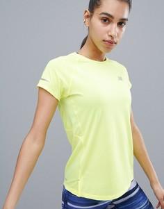Спортивная футболка с короткими рукавами New Balance Running Ice - Зеленый