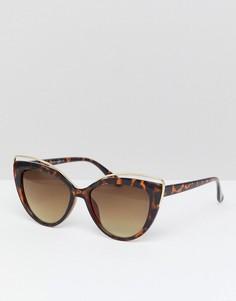 Солнцезащитные очки кошачий глаз 7X - Коричневый