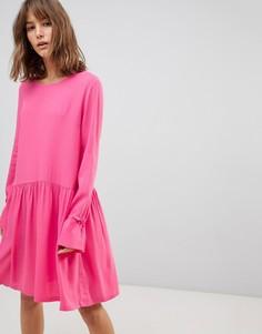 Свободное платье с рукавами клеш Just Female Hudson - Розовый