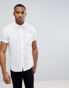 Рубашка с короткими рукавами из 100% льна Celio - Белый