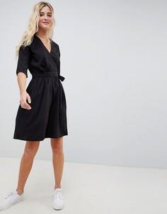 Платье с запахом Blend She - Черный