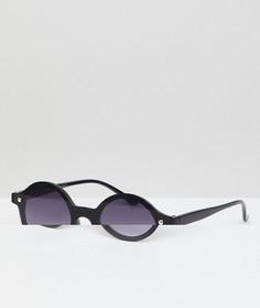 Черные круглые солнцезащитные очки без оправы AJ Morgan - Коричневый