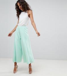 Укороченные брюки с широкими штанинами ASOS DESIGN Tall - Зеленый