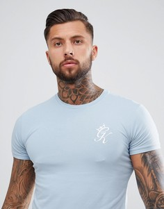 Обтягивающая футболка с логотипом Gym King - Синий