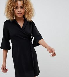 Платье-блейзер мини с запахом ASOS DESIGN Petite - Черный