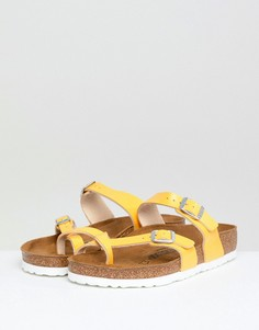 Желтые сандалии с перекрестными ремешками Birkenstock Mayari - Желтый