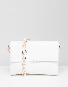 Кожаная сумка на плечо Ted Baker - Белый