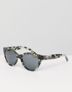 Солнцезащитные очки кошачий глаз в черепаховой оправе DKNY - Черный