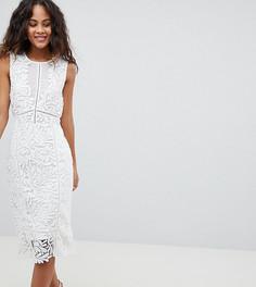 Кружевное платье миди Vero Moda Tall - Белый