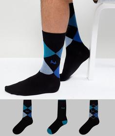 3 пары носков Pringle Waverley - Черный