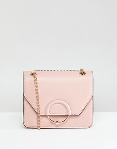 Сумка через плечо с ремешком-цепочкой ASOS DESIGN - Розовый