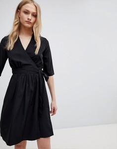 Платье с запахом Blend She Feya - Черный
