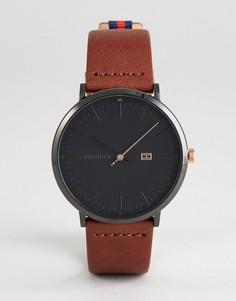 Часы с коричневым кожаным ремешком Tommy Hilfiger 1791461 - 40 мм - Коричневый