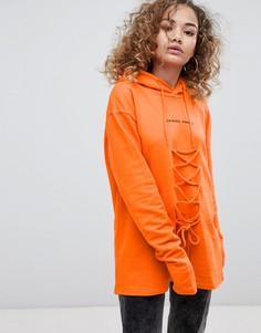 Кружевной худи Criminal Damage - Оранжевый