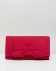 Маленький клатч из искусственной замши Miss KG - Розовый