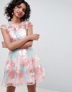 Короткое приталенное платье с пайетками ASOS EDITION - Мульти