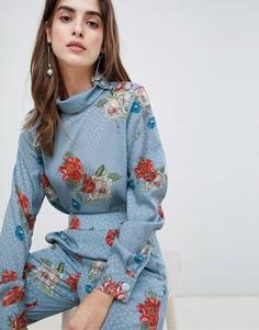 Блузка с цветочным принтом Gestuz Natacha - Синий