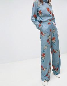 Брюки с цветочным принтом Gestuz Natacha - Синий