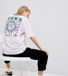 Oversize-футболка из органического хлопка эксклюзивно от Puma - Фиолетовый
