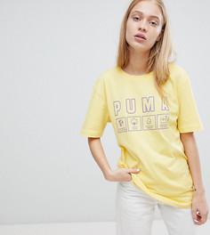 Oversize-футболка из органического хлопка Puma - Желтый