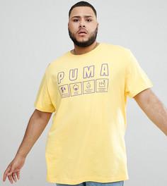 Желтая футболка из органического хлопка с принтом Puma PLUS эксклюзивно для ASOS - Желтый