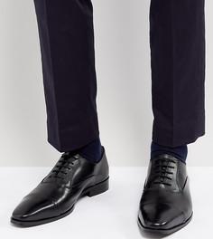 Черные кожаные туфли дерби Dune Wide Fit - Черный
